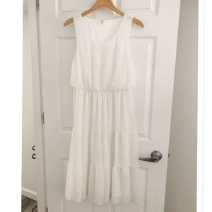b.young BY ASOS WHITE TIERED DRESS 👗 SIZE 10